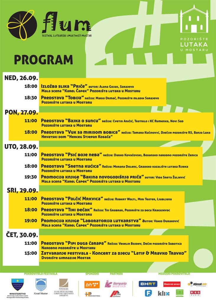 Festival lutkarske umjetnosti Mostar - program